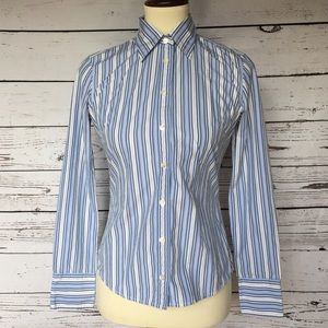 3 fo $25 J.crew size XS Striped Long sleeve top